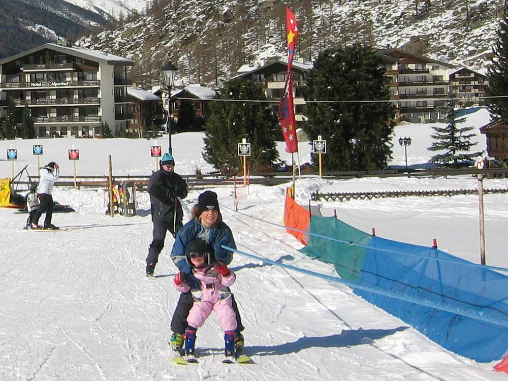 Children ski lift Saas-Almagell
